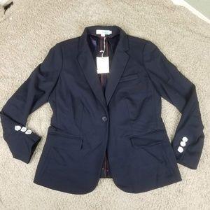 Boden NWT Navy Blue Single Button Blazer 10P